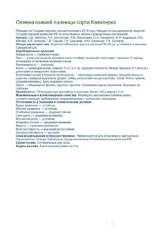 Объявление Семена озимой пшеницы Кавалерка урожай 2020 в Краснодарском крае