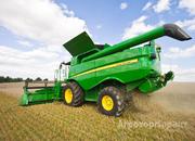 Объявление Услуги уборки урожая роторными комбайнами Джон Дир. в Липецкой области