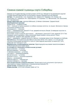 Объявление Семена озимой пшеницы Собербаш урожай 2020 в Краснодарском крае